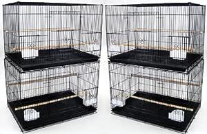YML Mediano jaulas de cría, Juego de 4, Negro: Amazon.es ...