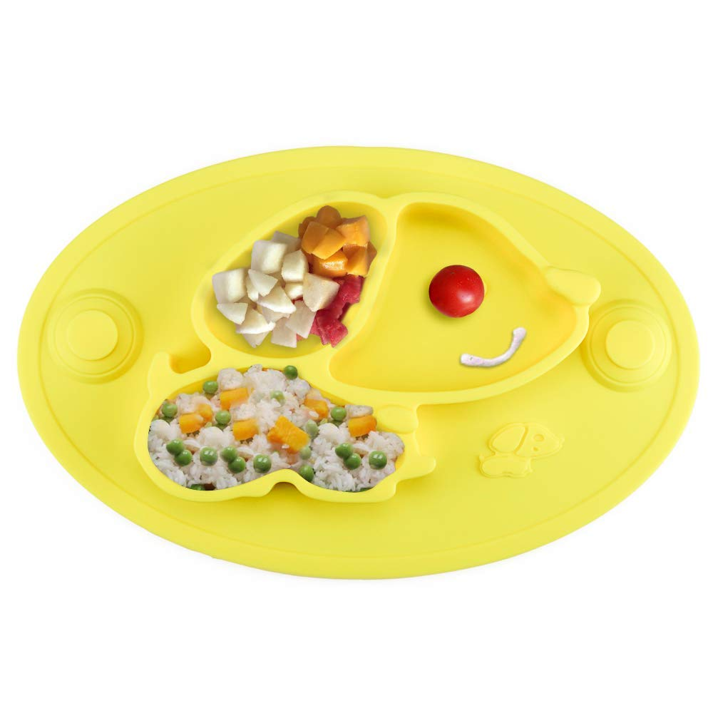 Baby Suction Plates, Upgraded Silicone Non-Slip Placemat for Babies,Toddlers and Kids(12