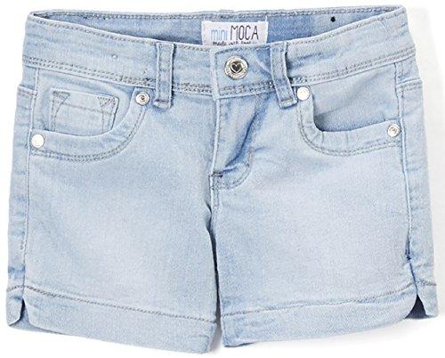 ToBeInStyle Girl's Denim Mini Shorts - Light Denim Fade Shorts - 8 ()