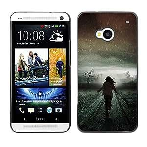 iBinBang / Funda Carcasa Cover Skin Case - Light Winter Running Scary Meaning - HTC One M7