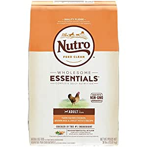 NUTRO WHOLESOME ESSENTIALS  Adult Farm-Raised Chicken, Brown Rice & Sweet Potato Recipe 30 Pounds