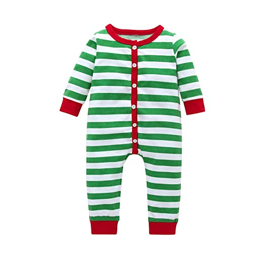 f593a1007aad Amazon.com  Toddler Baby Girls Boys Christmas Romper Jumpsuit ...
