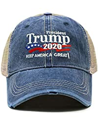 2a92edbe9742d Trump 2020 Keep America Great Campaign Embroidered USA Hat