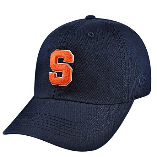 NCAA Syracuse Orange Crew Adjustable Navy Hat (Orange Navy Hats Fitted)
