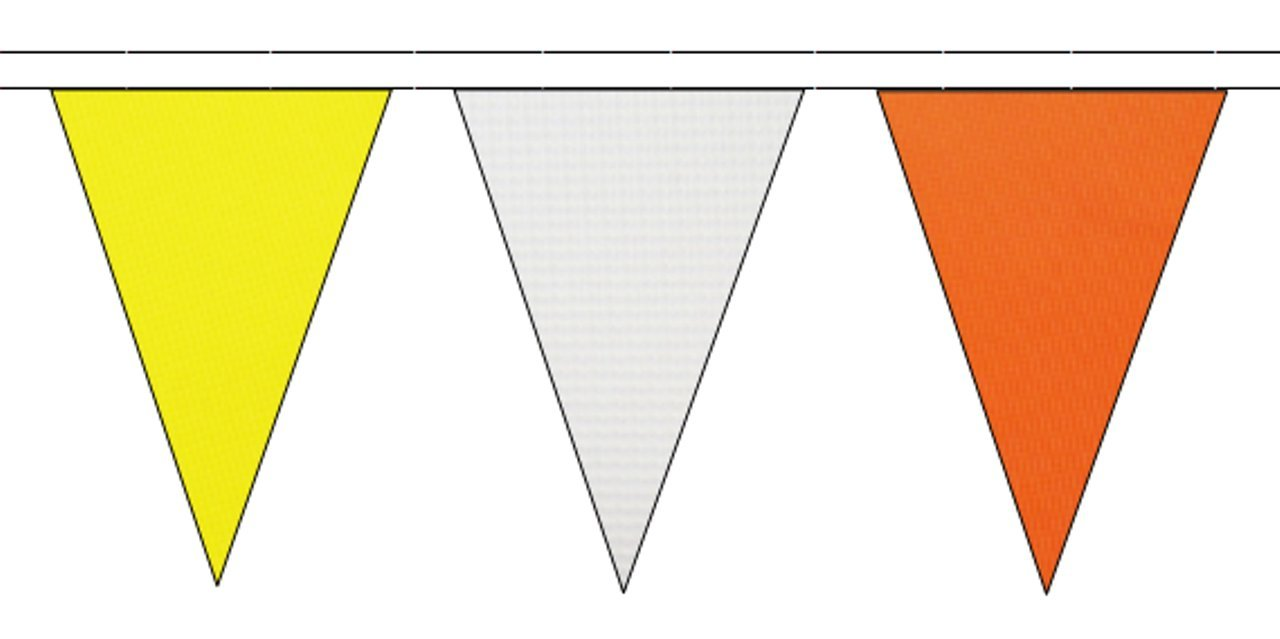 Black Yellow /& Red Triangular Flag Bunting 10m with 24 Flags
