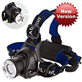1800 Lumens CREE LED Headlamp Super Bright Waterproof Zoomable 3 Modes with ...