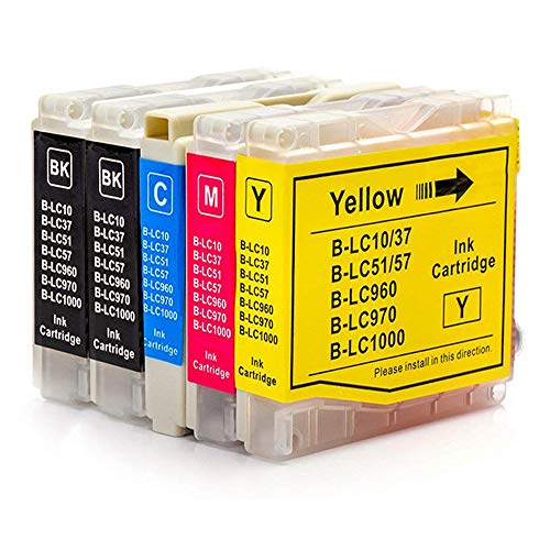 GUCOCO High Yield Compatible Ink Cartridge Brother LC51 (LC-51) Replacement for Brother DCP 130C 330C 540CN MFC-230C 3360C 5460CN IntelliFax 1360 Printers (2 Black, 1 Cyan, 1 Magenta, 1 (Mfc 3360c Color)