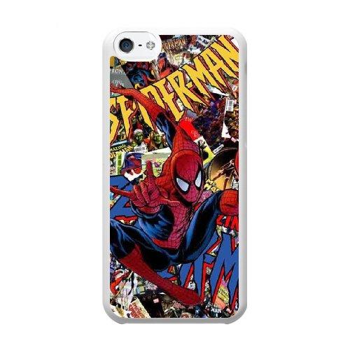 Coque,Coque iphone 5C Case Coque, Spider-Man Cover For Coque iphone 5C Cell Phone Case Cover blanc