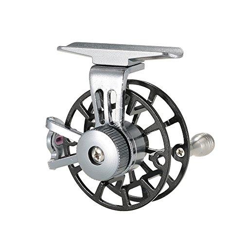 Ice Fishing Reel (Lixada Mini Ultralight Fly Reel Right Handed Fly Fishing Reel CNC Machined Aluminum Full Metal Reel Former Ice Fishing Wheel Reel Spool Tackle Tool)