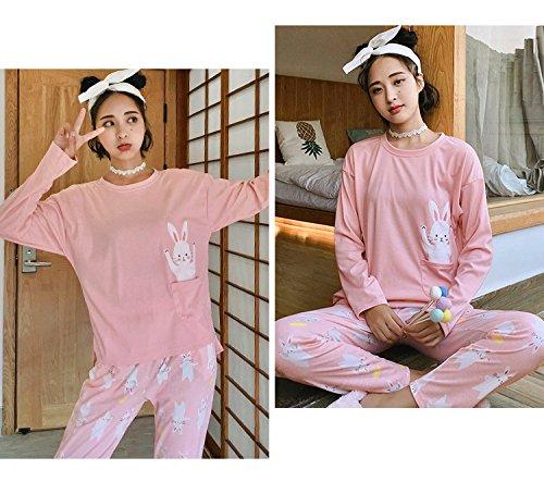 88b6c1ba19 MH-Rita Jrmissli 100% Cotton Women Autumn Winter Pajamas Soft Comfortable  Home Suit Women