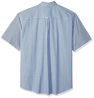 IZOD Men's Tall Breeze Button Down Short Sleeve Plaid Shirt