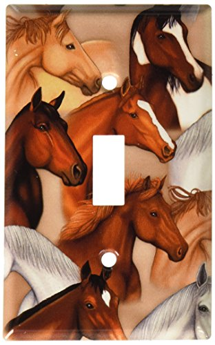 Art Plates - Dan's Horses Switch Plate - Single - Light Covers Horse Switch
