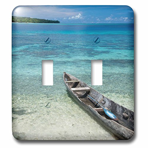 - 3D Rose LSP_228524_2 Solomon, Malo Island. Clear Bay and Coral Reef, Dugout Canoe. Double Toggle Switch