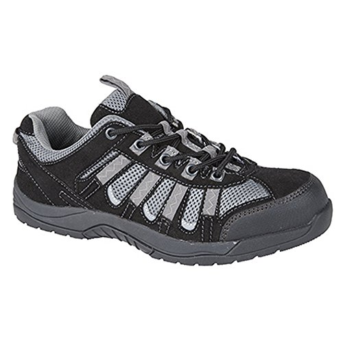 Grafters Herren Low Cut Safety Trainers Schwarz/Grau