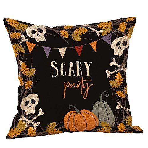 HGWXX7 Halloween Throw Pillow Covers Pumpkin Ghosts Linen