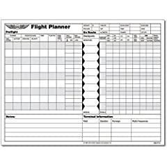 Ideal for both domestic and international preflight planning and in-flight progress tracking. The front side of the flight planner sheets provide for input of preflight information such as planned course, altitude, predicted winds, en route c...