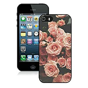 flower black for iPhone 5S Phone Cover