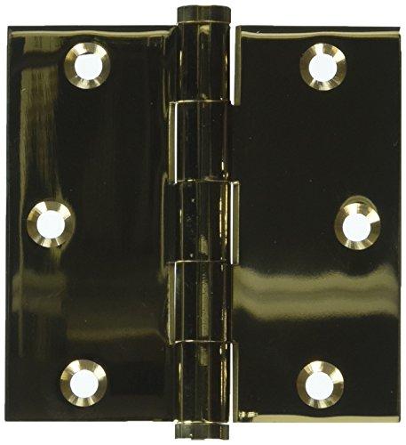 Deltana DSB353-UNL Solid Brass 3 1/2-Inch x 3 1/2-Inch Square Hinge