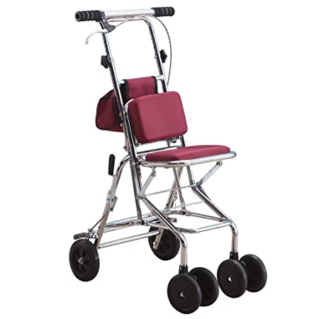 Andador con ruedas plegable con asiento y ruedas, incluye ...