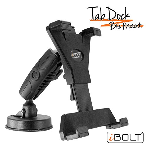 iBOLT BizMount Tab Dock Holder with Suction Cup for 7-10 Inch Tablets