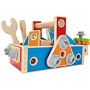 Hape LIMITED EDITION Handyman Go-To-Caddy Kid's Wooden Tool Box Set