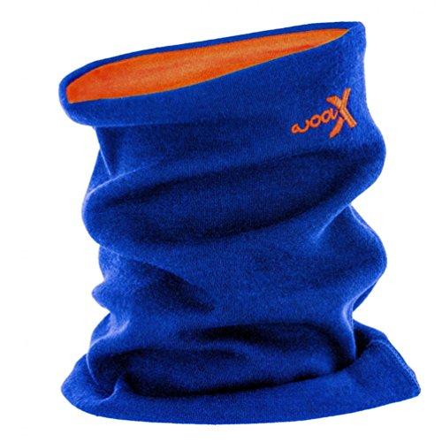 Woolx Unisex Merino Wool Neck Gaiter For Men & Women - Warm and Soft - Cobalt Tangerine (Wool Tangerine)