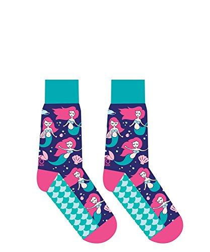 Yo-Sox yosox MERMAID Cotton Blend Women's Size 6-10 Stretch Crew Socks