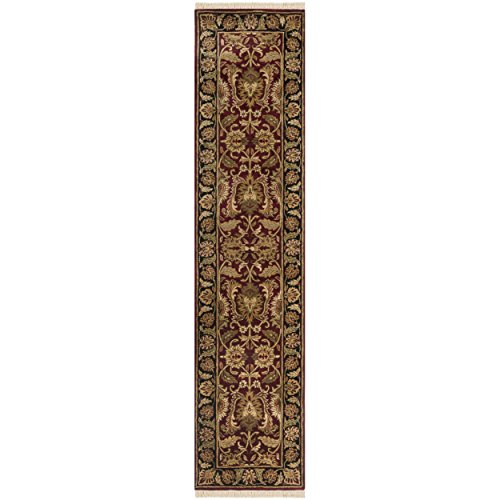 Safavieh Classic Collection CL239B Handmade Traditional Oriental Burgundy and Black Wool Runner (2'3