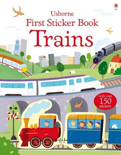 Trains  (Usborne First Sticker Book)