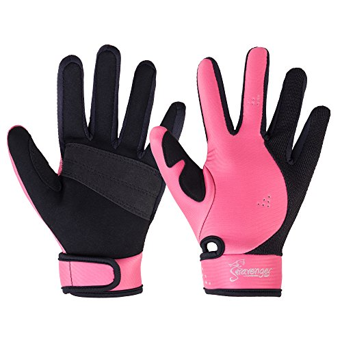 Seavenger Abyss Dive Gloves | 1.5mm Neoprene Mesh | Scuba Diving, Wakeboarding, Spearfishing (Pink, Small)