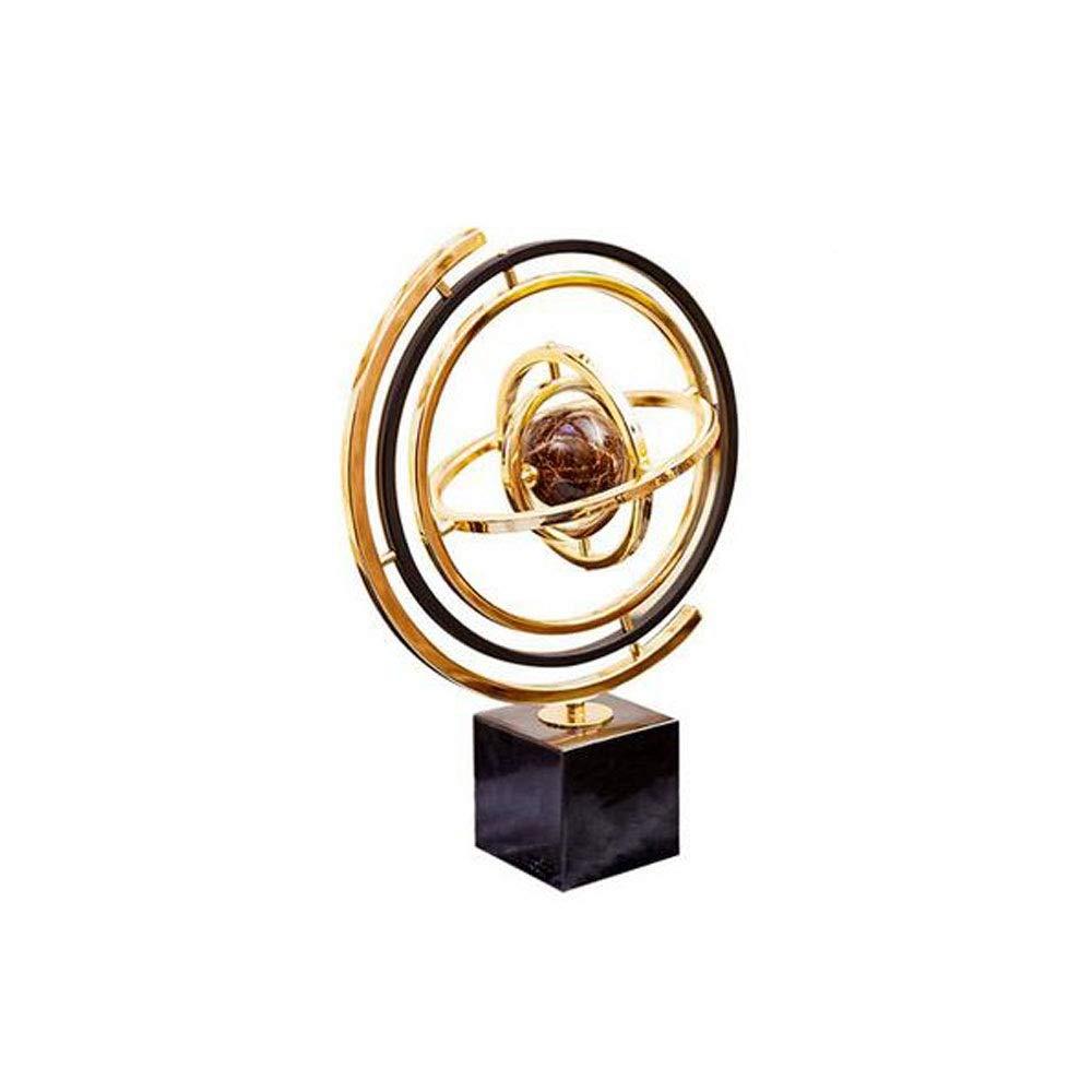 Guyuexuan Home Decoration, Fashion Creative Metal Globe Decoration, Book Desktop Decoration Hall TV Cabinet Decoration Ashtray (Color : Gold, Size : 32 * 32 * 44cm)