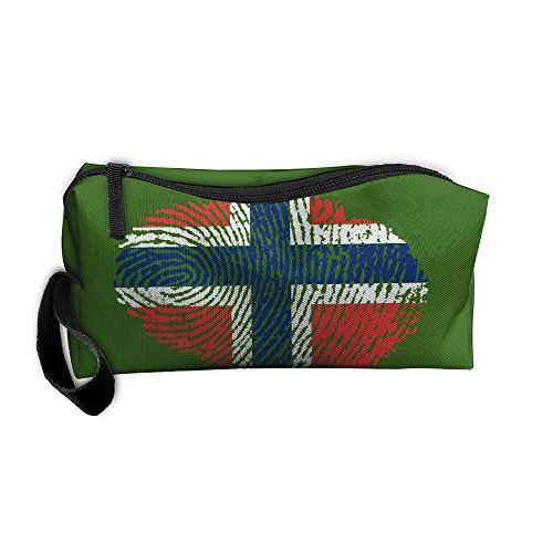 Szqbag Fingerprint Norway Printing Portable Multiple Usage Handbag Storage Pouch Bag Case Accessories Organizer Healthcare Kit Grooming Kit Cosmetics Bag Make-up Bag With - Online Norway Shopping