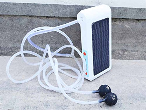 RONSHIN 6LED Solar-powered USB Charging Portable Practical Oxygen Pump for Outdoor Fishing Fish Tank by RONSHIN (Image #2)