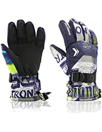 Ski Gloves,RunRRIn Winter Warmest Waterproof and Breathable Snow Gloves for Mens,Womens,ladies and Kids Skiing,Snowboarding