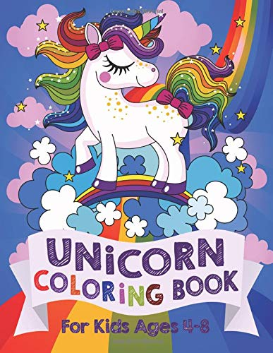Books : Unicorn Coloring Book: For Kids Ages 4-8 (US Edition)
