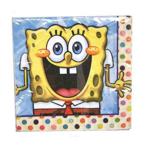 Spongebob Lunch Napkin - 16 Ct Unique