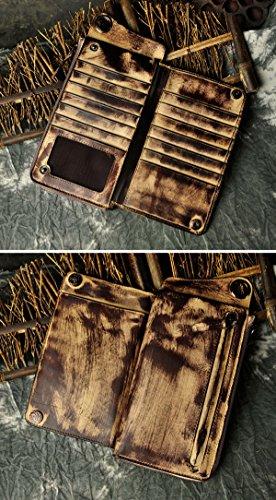 Carpeta Monedero Cartera Beige Piel Leaokuu La Auténtica De Plegable Hombre gris The Moda Billetera Para Dragón fTXfFPq4w