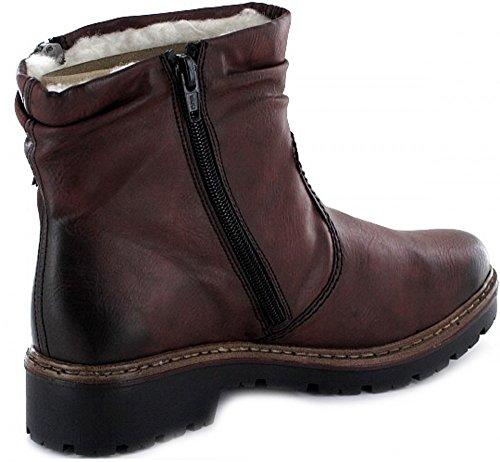 Rieker Damenschuhe Z4541 Damen Stiefel, Schlupfstiefel, Boots vinaccia / 35