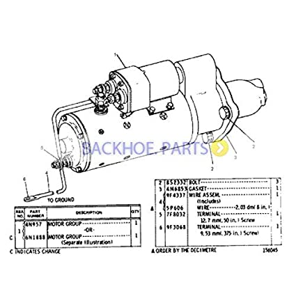 amazon com: for caterpillar loader cat 980c 983b 980f engine 3406 starter  motor 4n-1062 4n1062: automotive