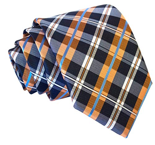 Plaid Ties for Men - Woven Necktie - Mens Ties Neck Tie by Scott Allan ()