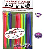 20 Chicken Charm TM 2 Poultry Leg Bands - Fit Sizes 7 to 14 ...