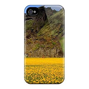 New Arrival Field Of Pansies By An Unusual Mountain For Iphone 6 Cases Covers