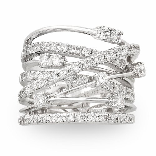 JanKuo Jewelry Rhodium Plated Cubic Zirconia Wide Band Cocktail Ring (11)