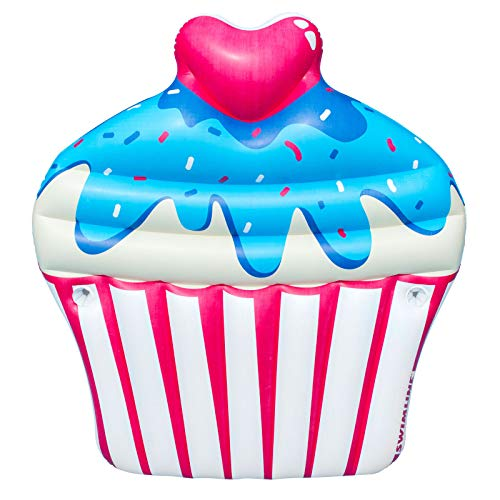 Inflatable Sprinkle Cupcake Ride On Swimming Pool or Lake Float Raft with Ebook