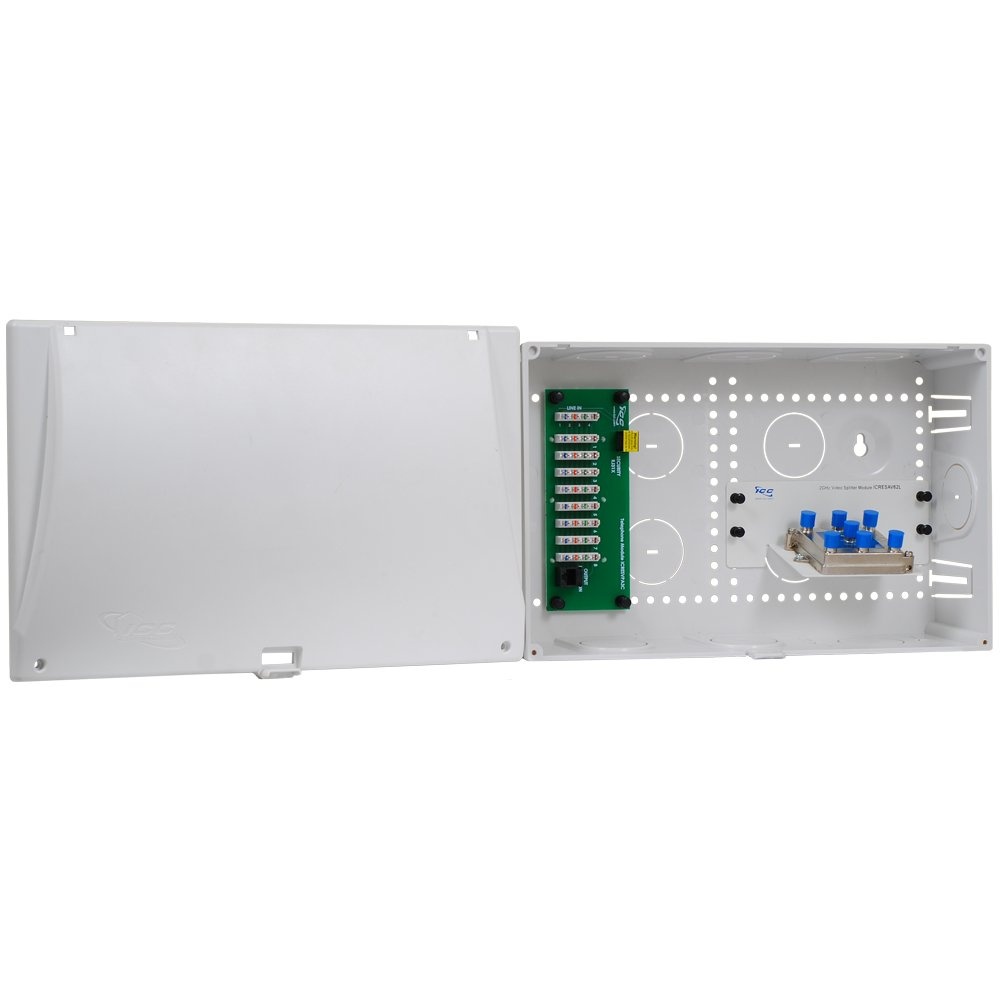 High Quality Icc 9 Combo Voice Video Plastic Structured Wiring Enclosure