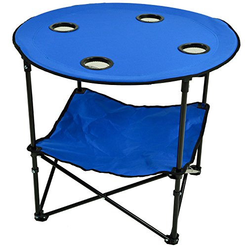 Picnic at Ascot 548-RB Canvas Travel Folding Table, Royal Blue ()