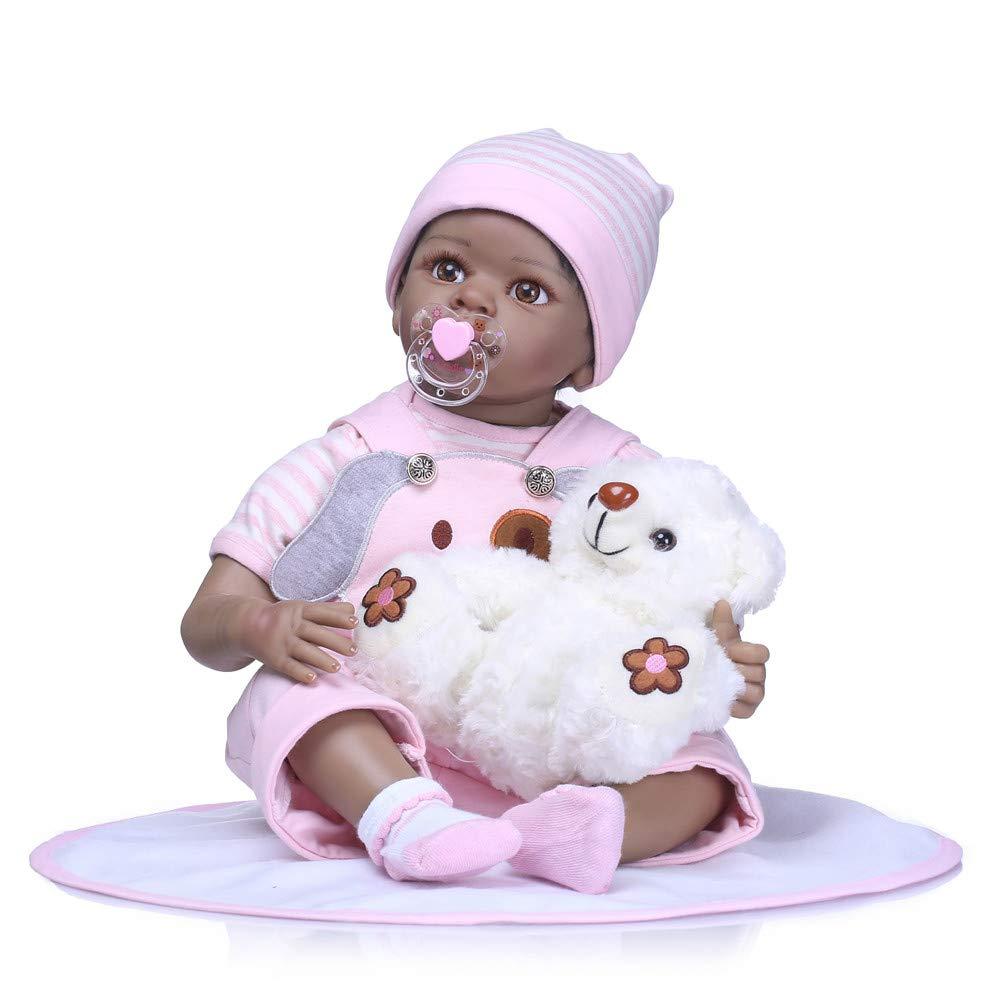 Minidiva Realistico Reborn Baby Bambola, Willdo Morbido Silicone 22 '/ 55cm Lifelike Newborn Doll Ragazza per Bambini RB129 Willdo Morbido Silicone 22 / 55cm Lifelike Newborn Doll Ragazza per Bambini RB129