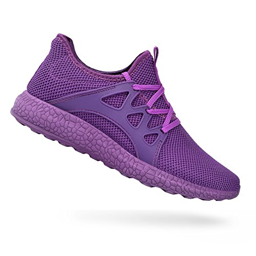 QANSI Comfortable Walking Shoes Outdoor Running Shoes for Women Purple US 8.5 (Women Shoes Purple)