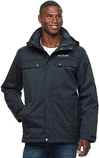 Columbia Men/'s Thermal Coil Interchange Waterproof Jacket Navy MEDIUM NWOT