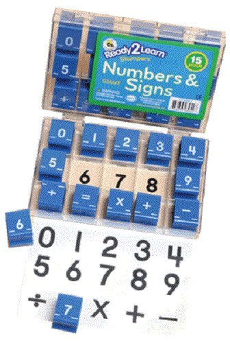 Center Enterprise CE6843 Ready to Learn Numbers and Signs Stamps, 1-1/2' (Pack of 15) 1-1/2 (Pack of 15) Center Enterprises Inc.